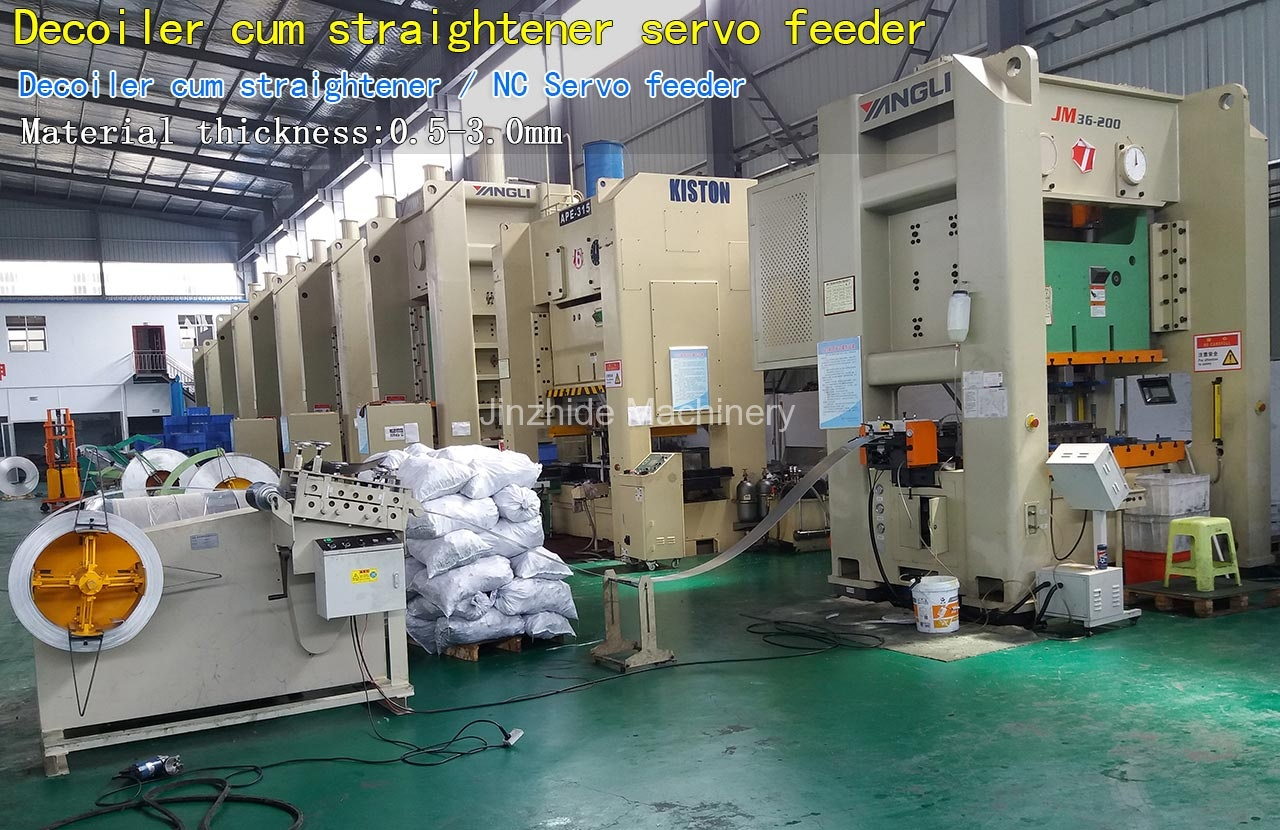 Decoiler cum straightener servo feeder