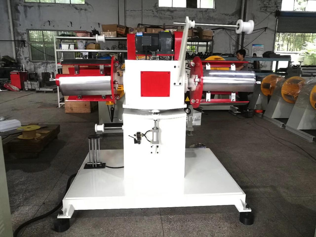 Double Head Uncoiler exported to Germany