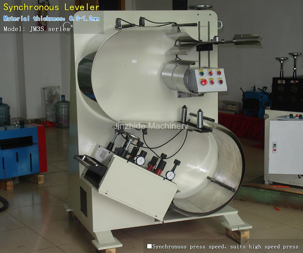 High speed leveler machine