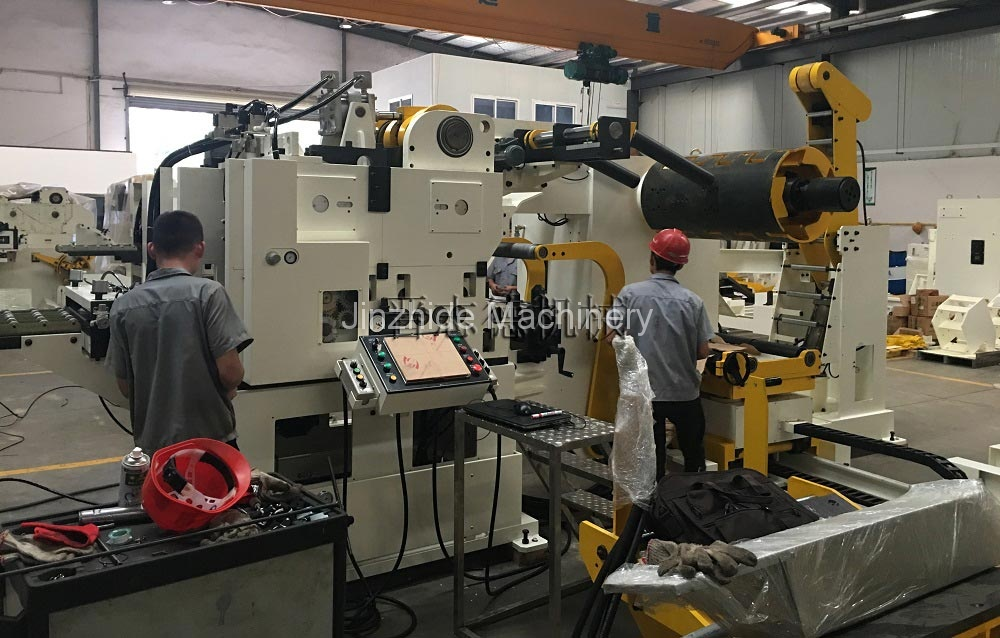 High tension triple feed machine assembly