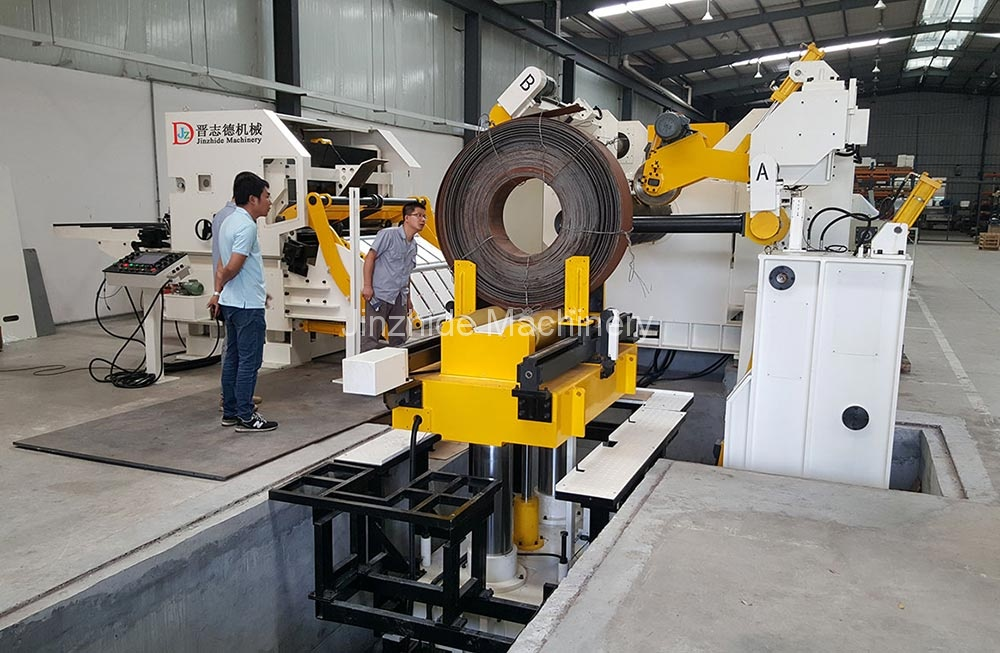 High tension triple feed machine