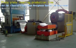 Plate plate leveling production line