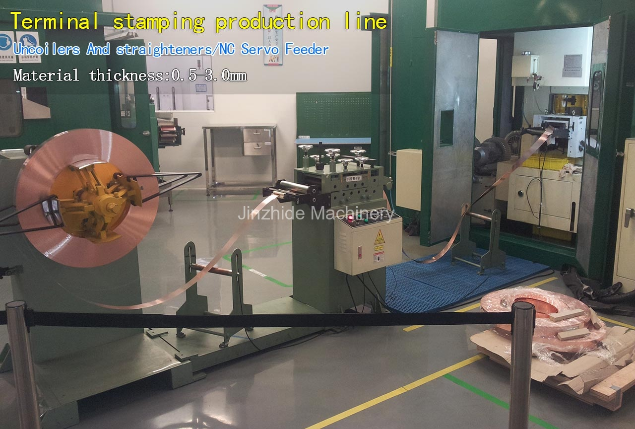 Terminal stamping production line