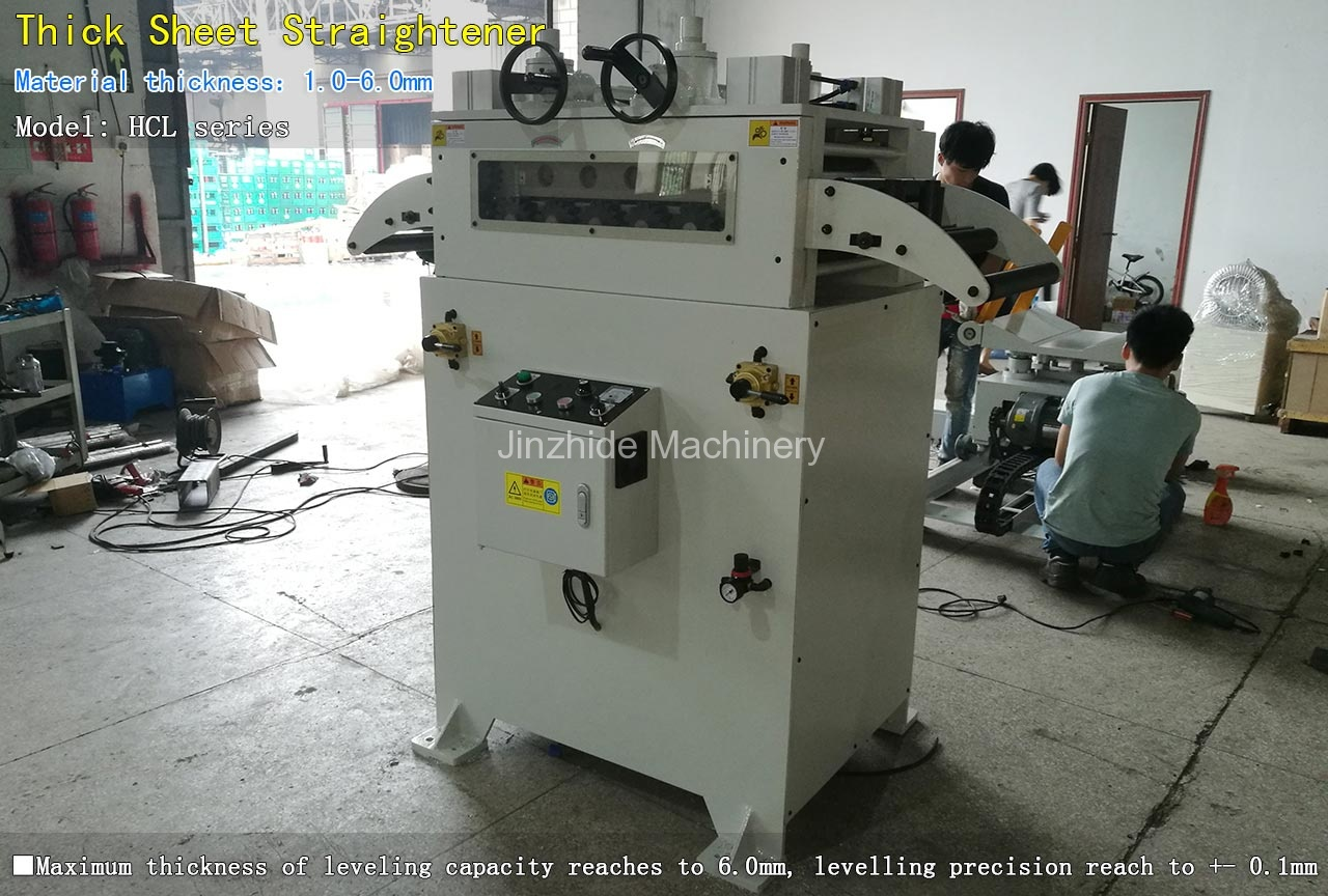 Thick Sheet Straightener Machine