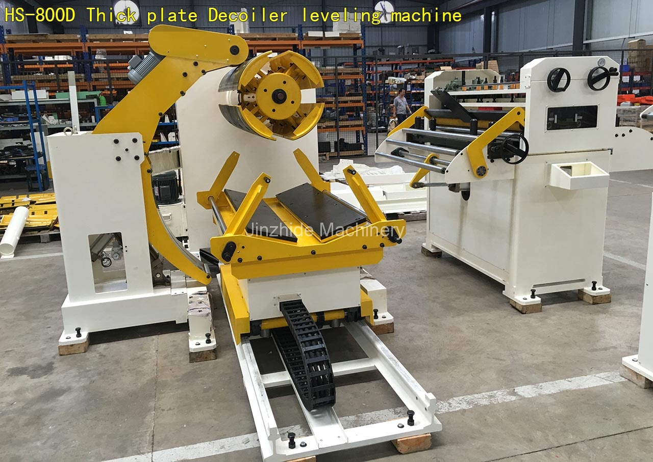 Thick-plate-Decoiler-leveling-machine-assembly