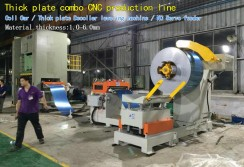 Thick plate combo CNC production line