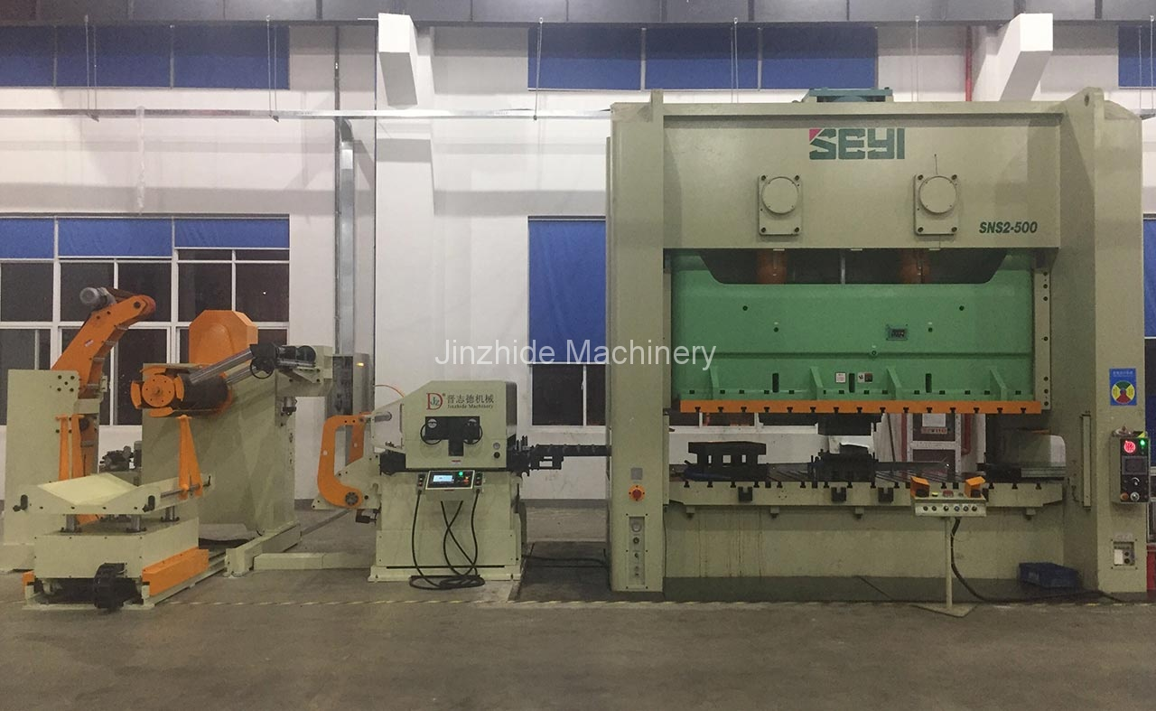 Thick plate decoiler straightener feeder