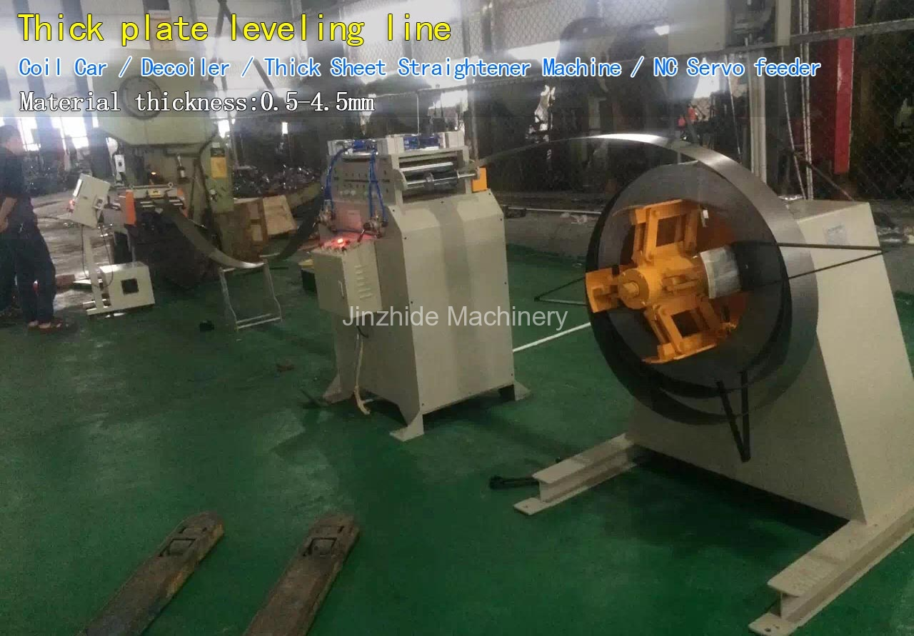 Thick-plate-leveling-line