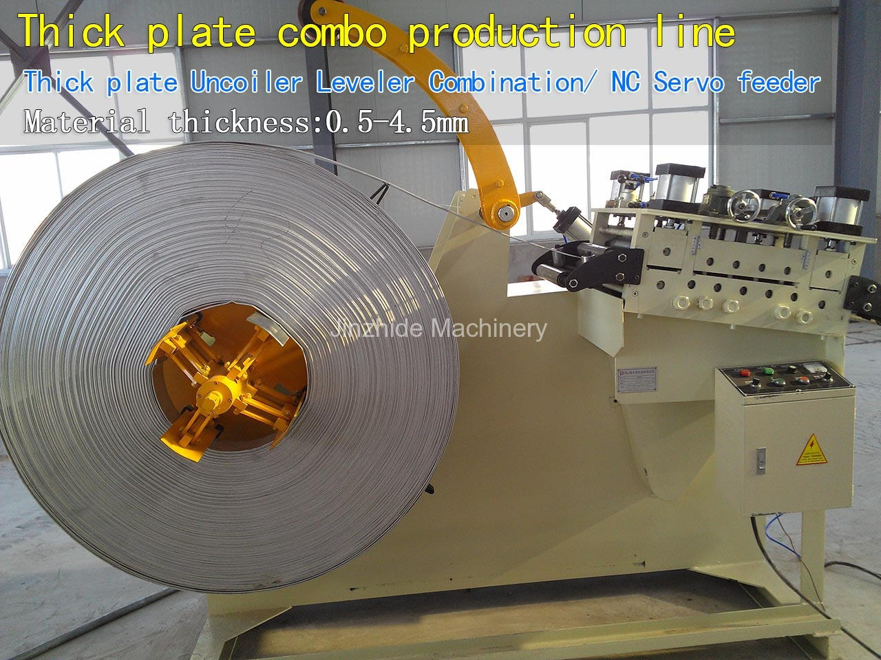 Thick-plate-shelf-leveling-machine-feed-line