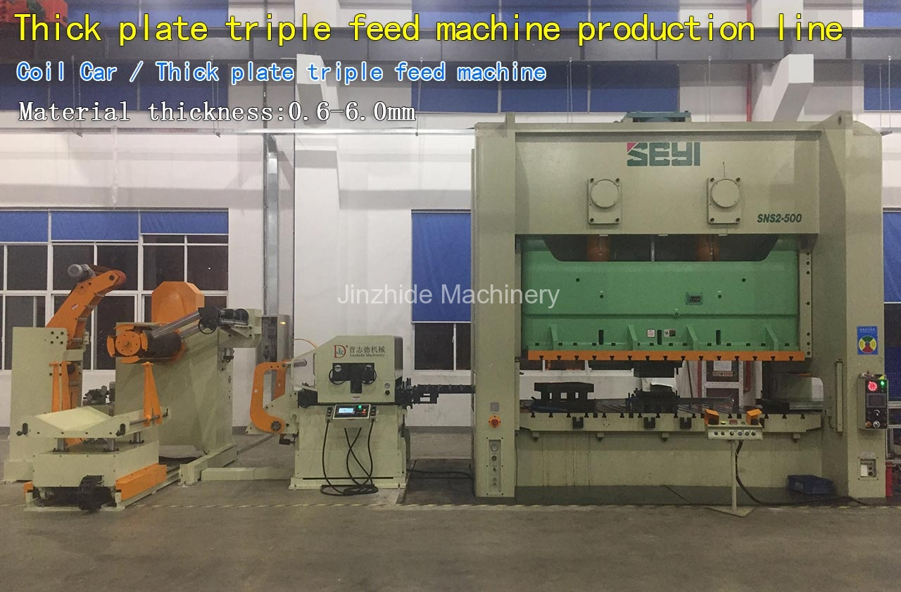Thick plate triple feed machine production line