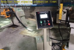 Uncoiler feed stamping production line