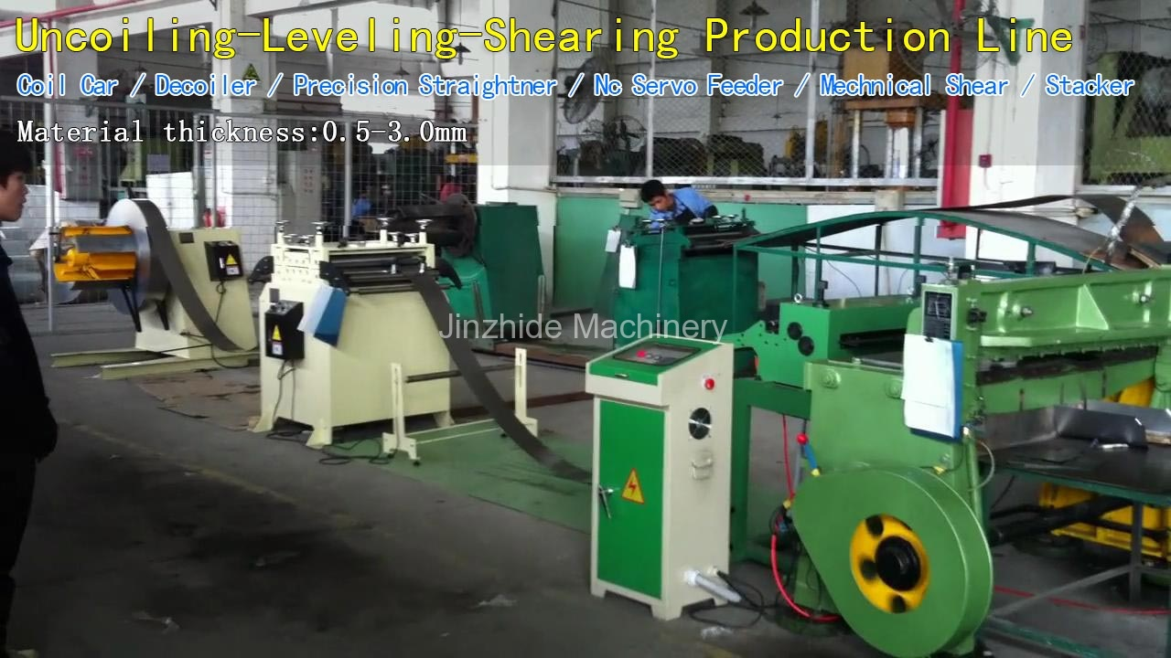 Uncoiling-Leveling-Shearing Production Line